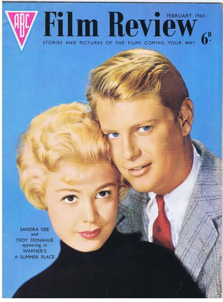 Sandra Dee And Troy Donahue On The Cover Of Abc Film Review