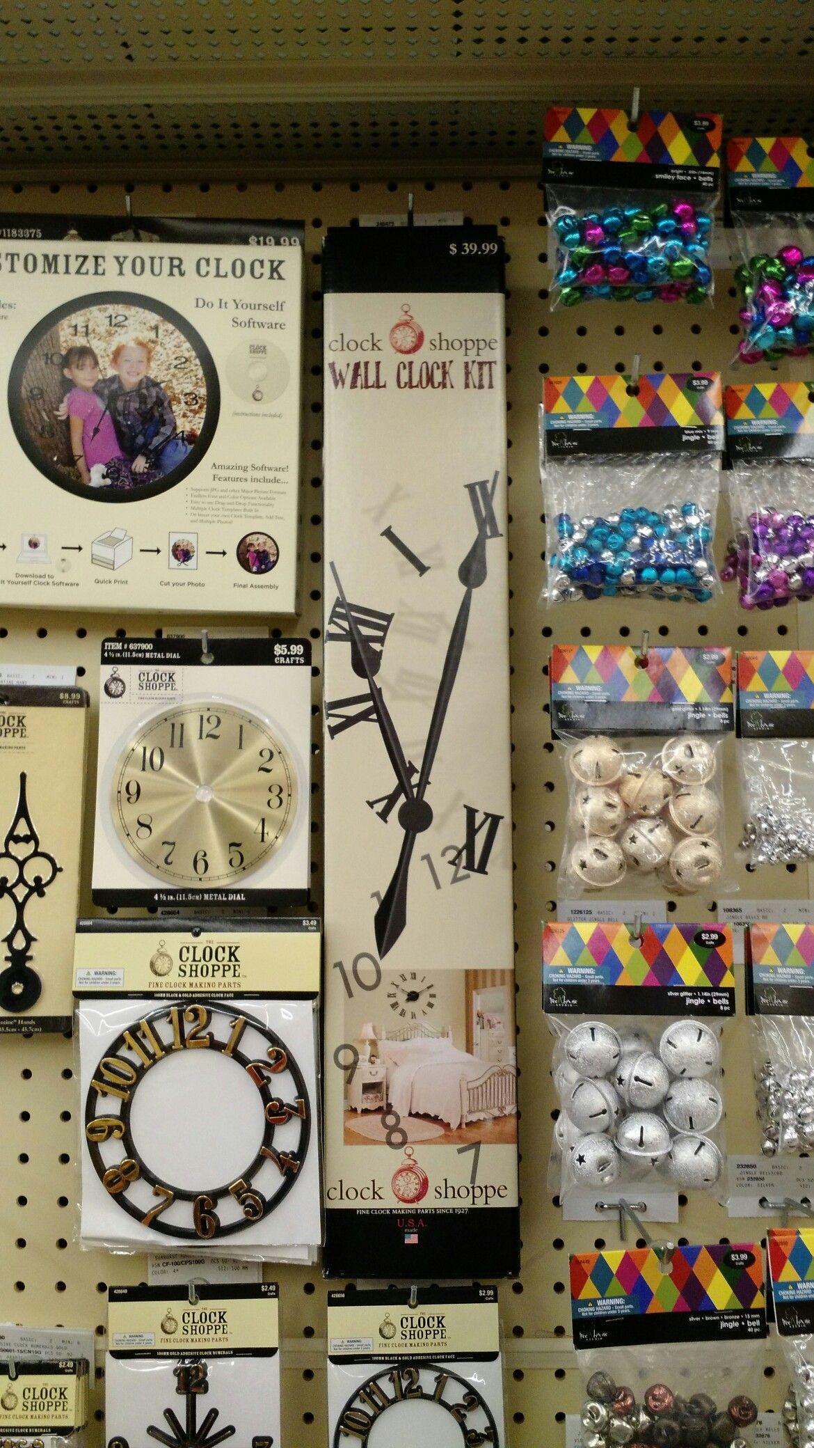 On the wall clock kit @ hobby lobby
