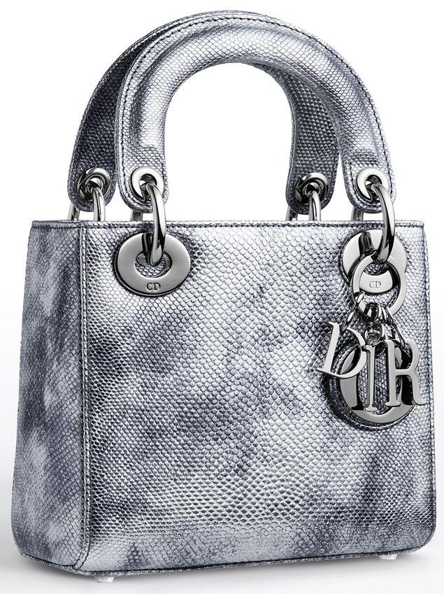 Lady Dior Bag in Vieil Argent Karung  f2a46b9422752
