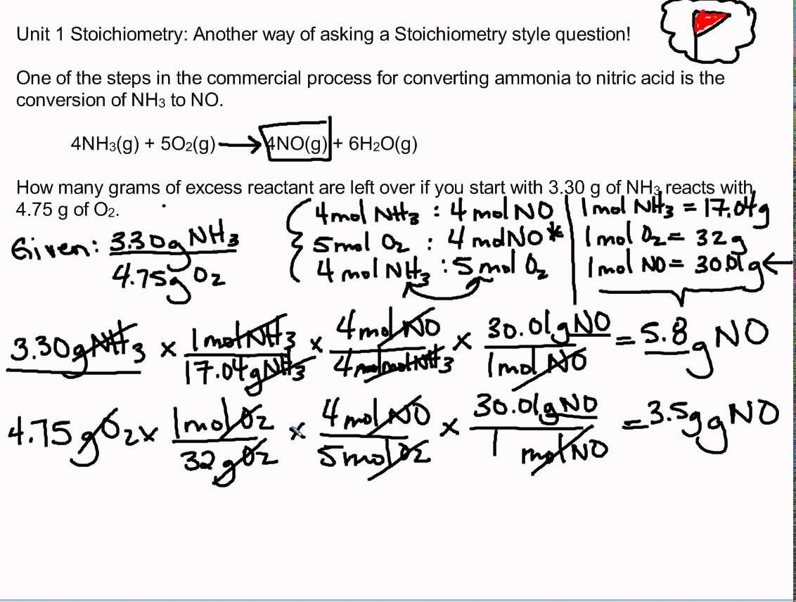 Excess Reactant Unit 1 Stoichiometry Teaching Chemistry Chemistry Classroom Chemistry Worksheets