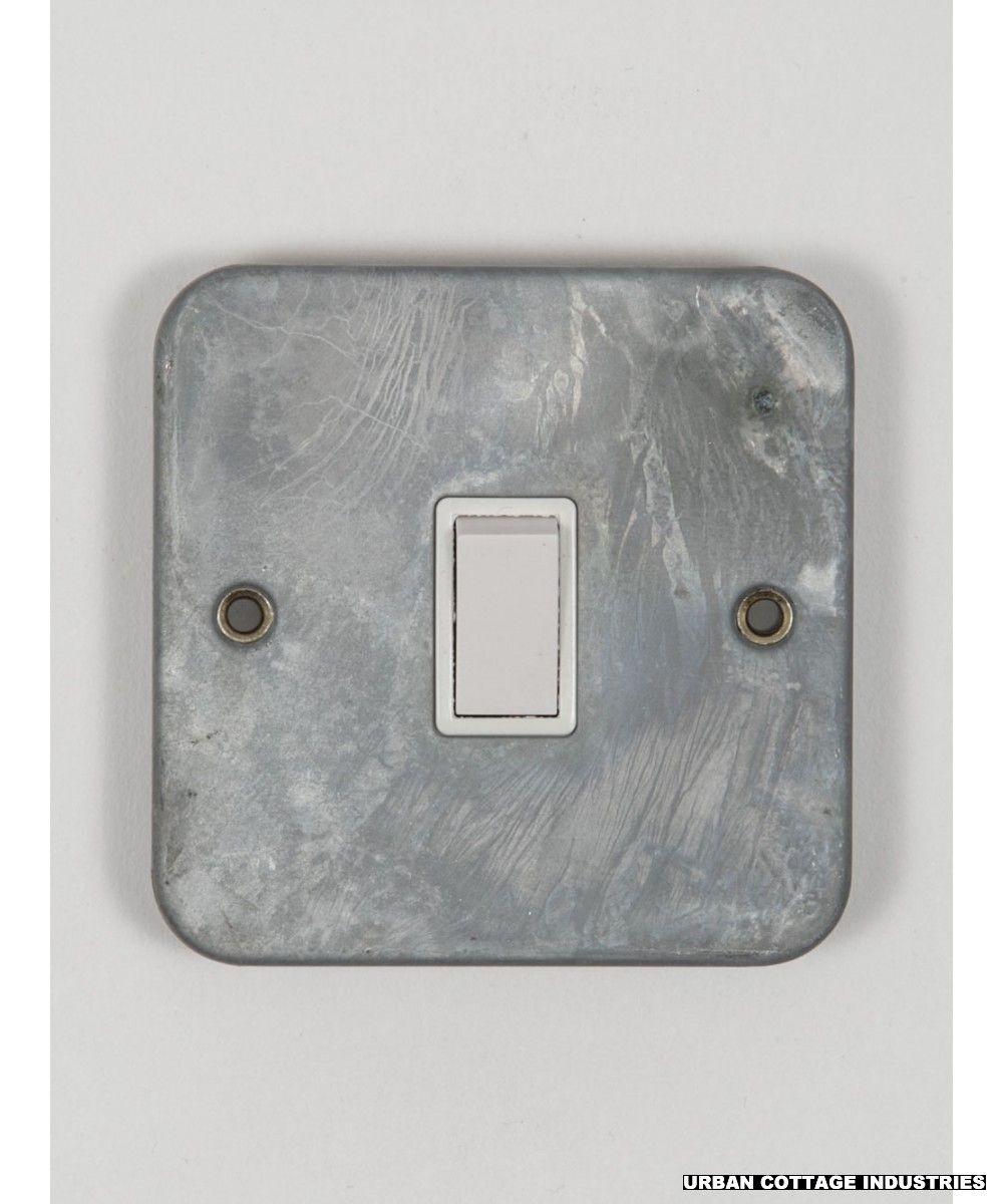 galvanised light switch single switch intermediate | Button ...