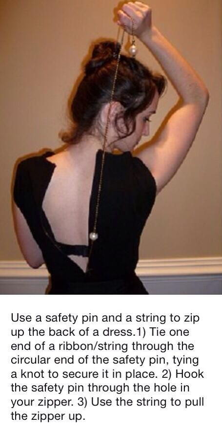 How to zip up the back of a dress - #Dress, #Fashion, #LifeHack