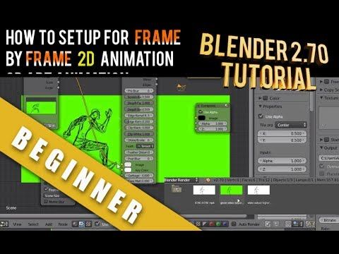 How To Setup Frame By Frame Animation 2d Art Blender 2.70a | How to ...
