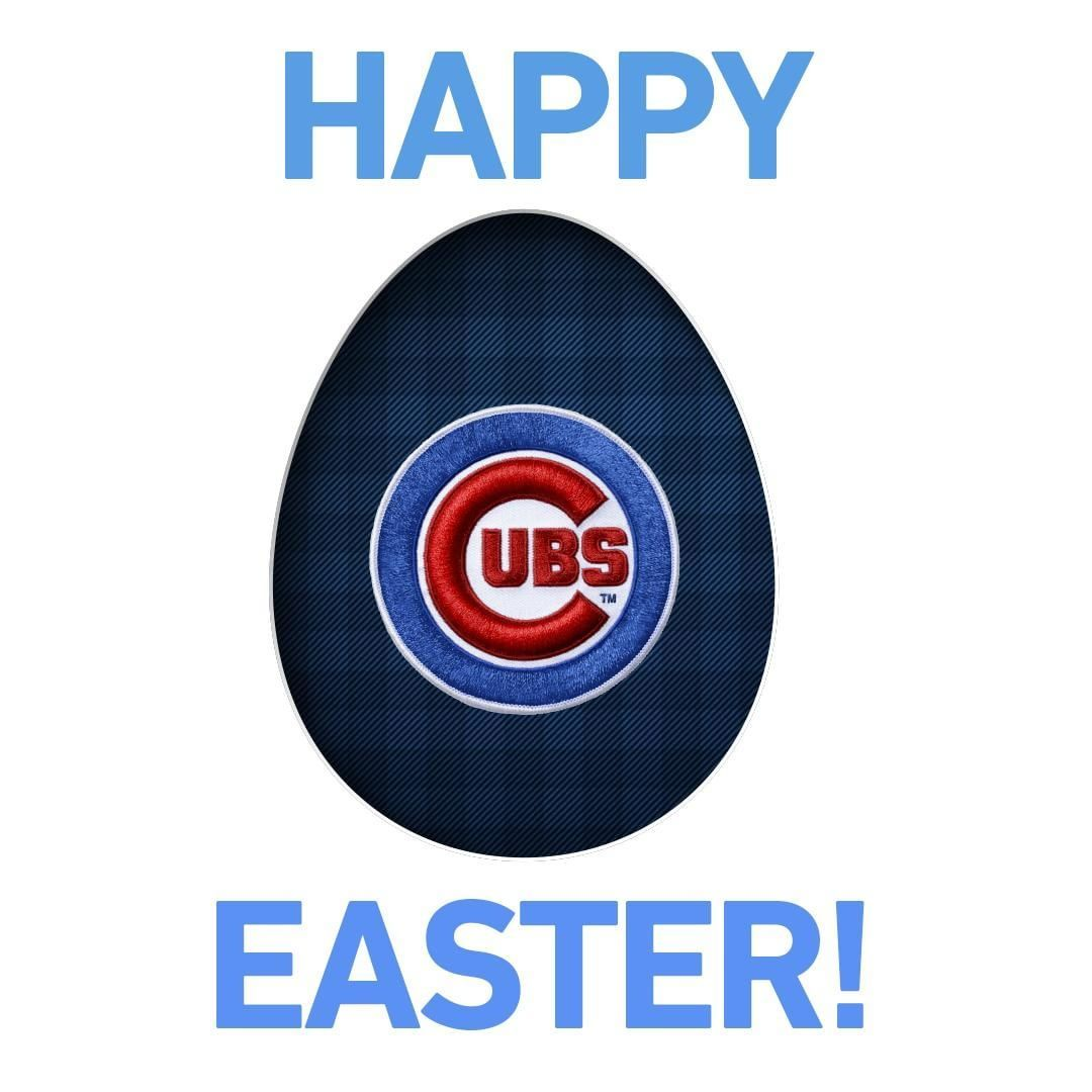 Happy Easter Cubs Fans Chicago Cubs Chicago Cubs Logo