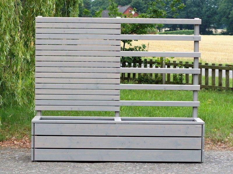 pflanzkasten sichtschutz rankgitter transparent grau heimisches holz made in germany. Black Bedroom Furniture Sets. Home Design Ideas