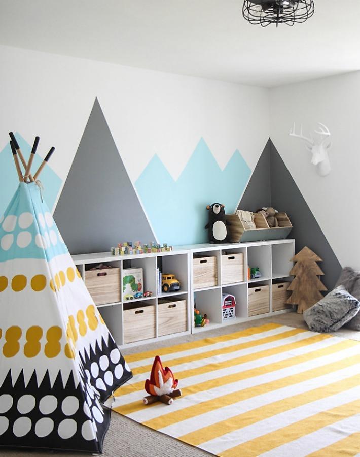 Antes y despus de una habitacin de juegos infantiles Cribs
