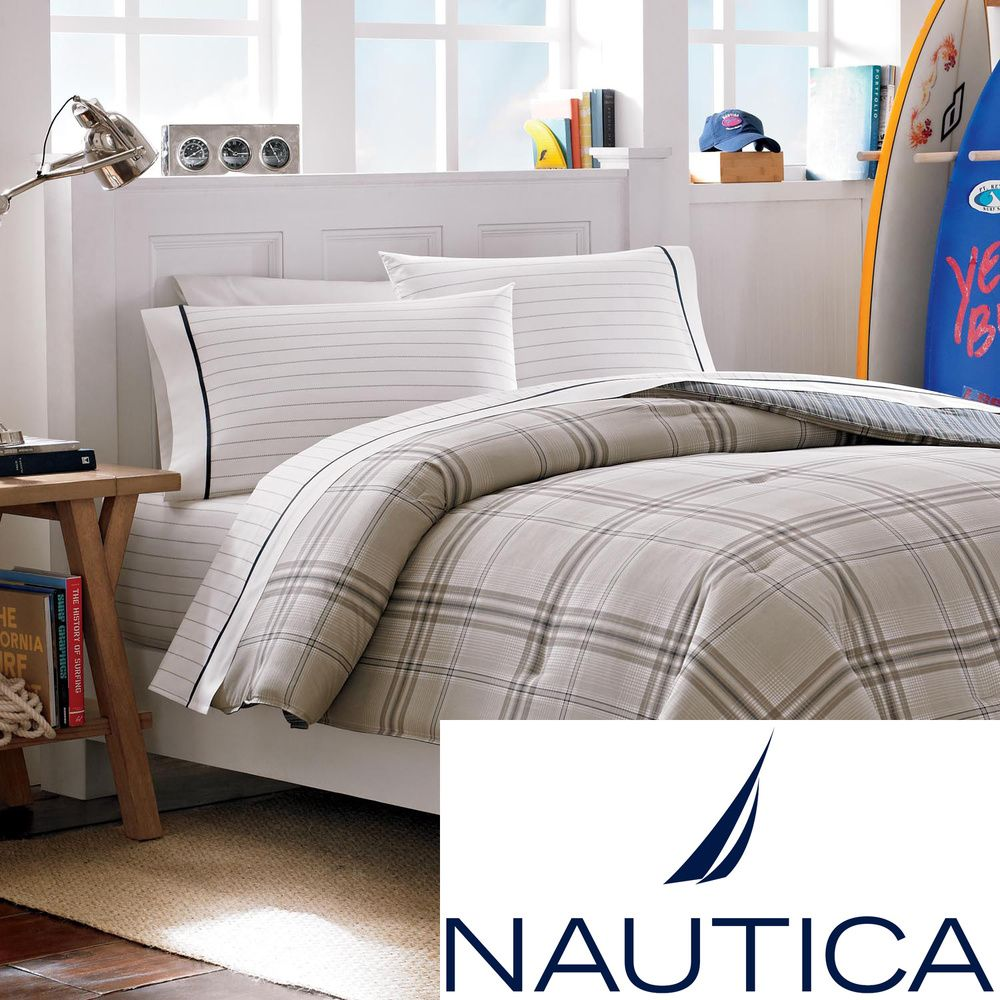 Nautica Dorm Bedding: Nautica Hempstead 5-piece Bed In A Bag With Sheet Set