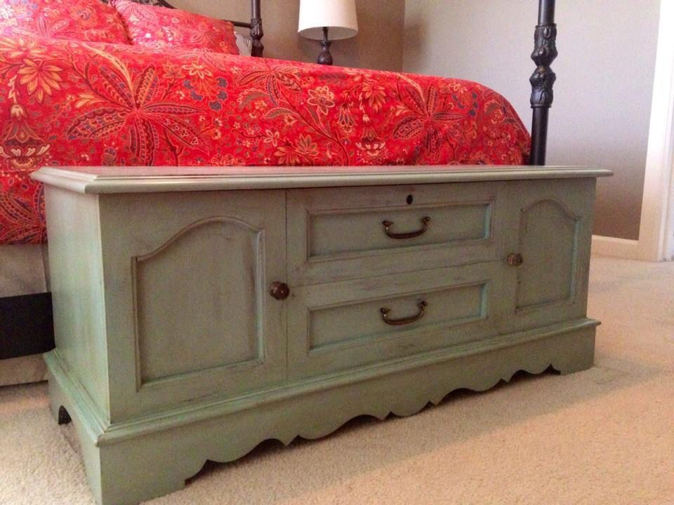 annie sloan chalk paint duck egg on lane cedar chest from the 80u0027s