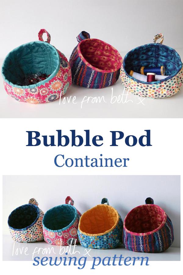 Conteneur Bubble Pod | Patron de couture – Couture avec des chutes   – Sewing Projects