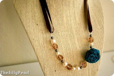 Interchangeable Ribbon Necklace and Bracelet