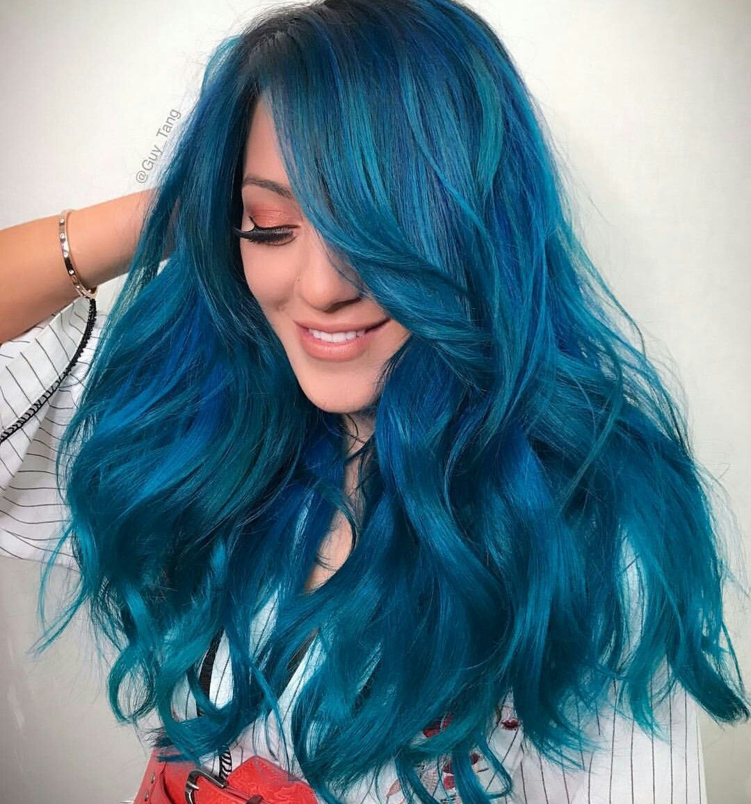 Niki demartino blue hairstyle cute hair colors pinterest blue