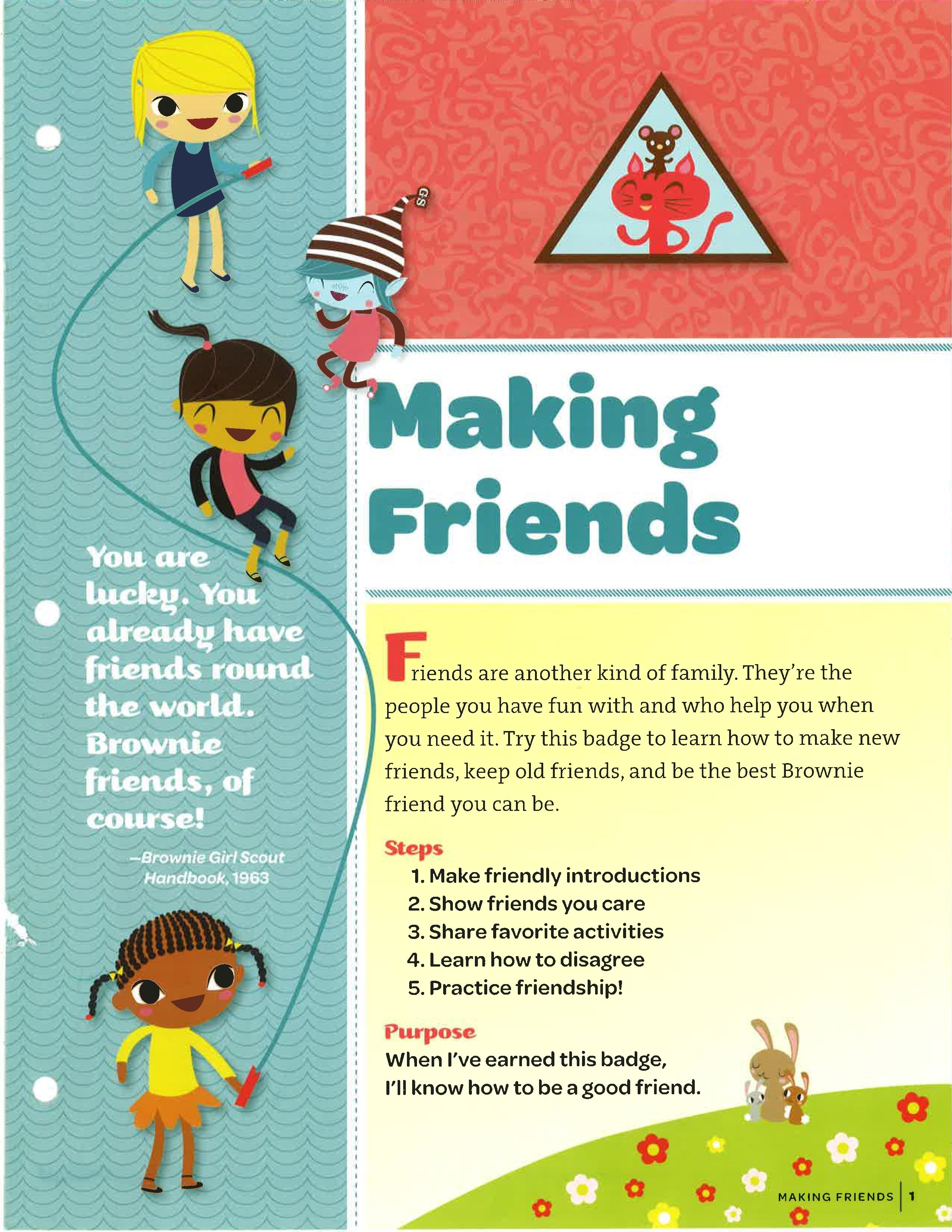 Steps to making friends