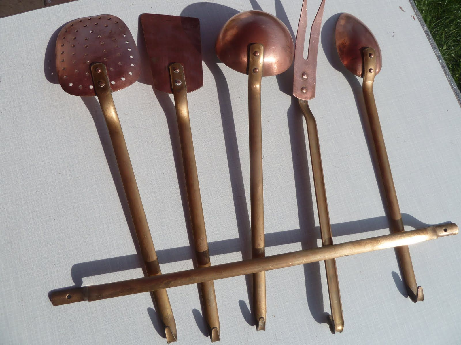 vintage copper and brass utensils white and brass pinterest