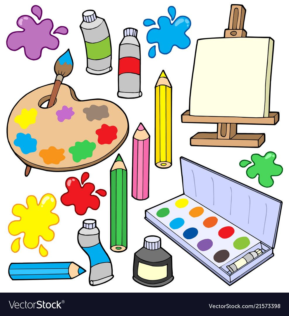 Fine Arts Collection 1 Vector Image On Vectorstock Fine Art Collection Clip Art Fine Art
