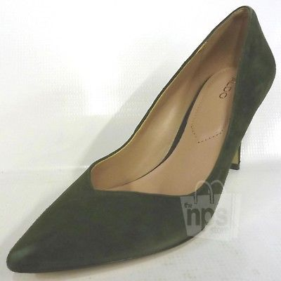 047657a52e6 Aldo  85 Women s Jaysee High Heeled Pumps Size 7.5 Forest Green Suede  Stiletto