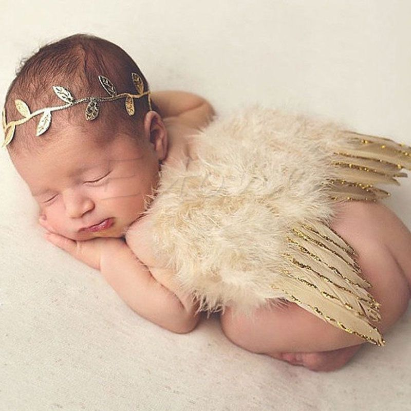 f4fd50e0e Gold Baby Girls Newborn Angel Wings + Headband Costume Photo Prop Outfit  #Unbranded #DressyEverydayHoliday