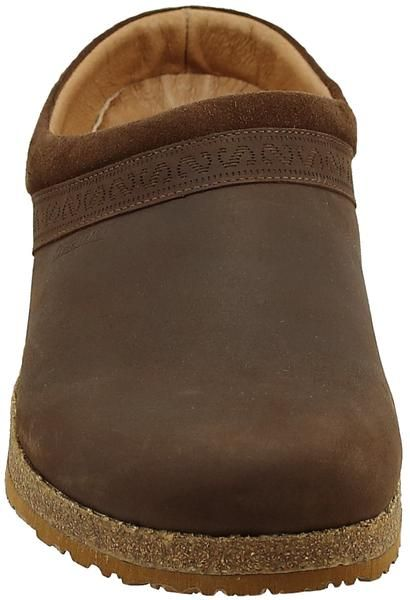 Mens Linz Clog Brown Crazy Horse Leather Suede Mens Leather