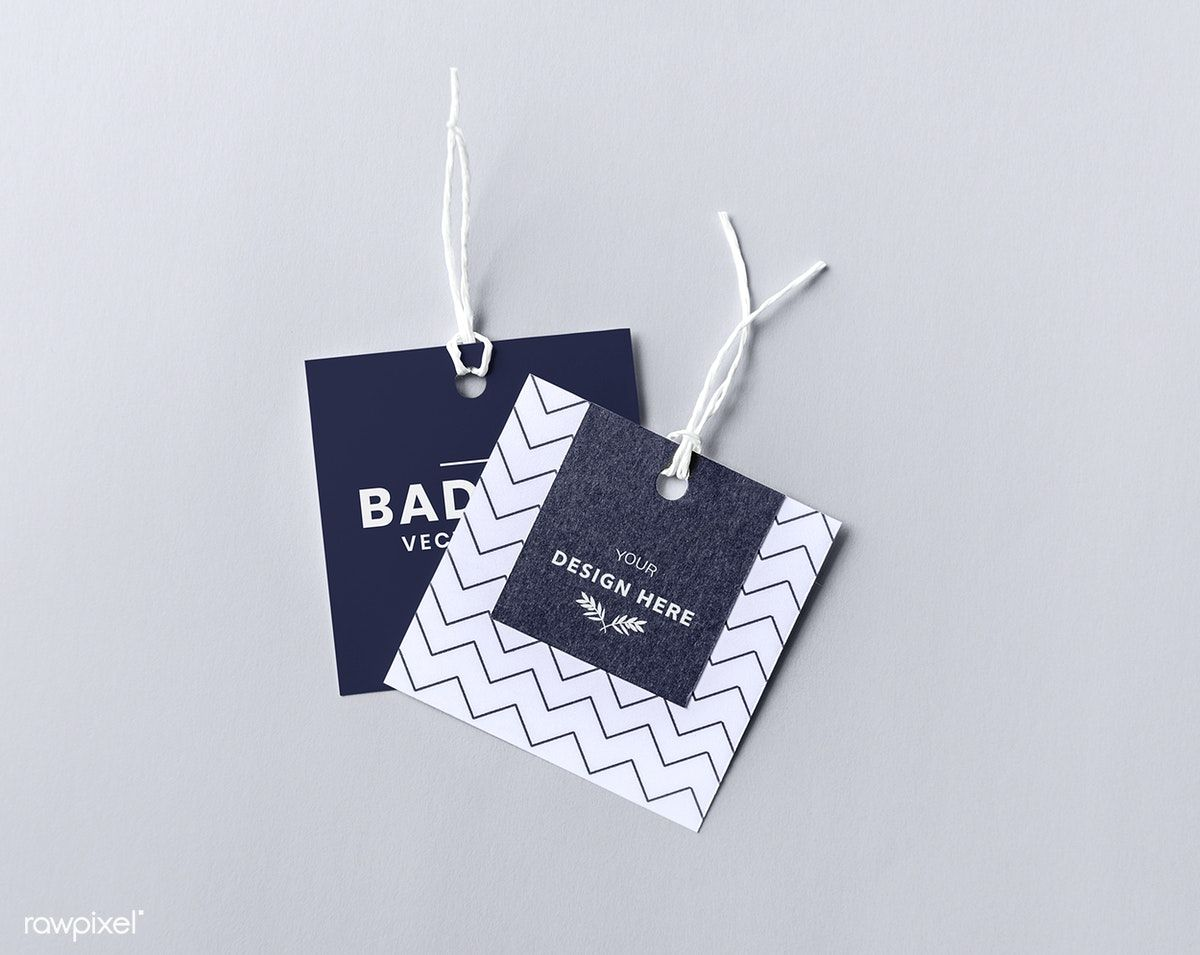 Download Premium Psd Of Pair Of Fashion Label Tag Mockups 531891 Fashion Labels Label Tag Hang Tag Design