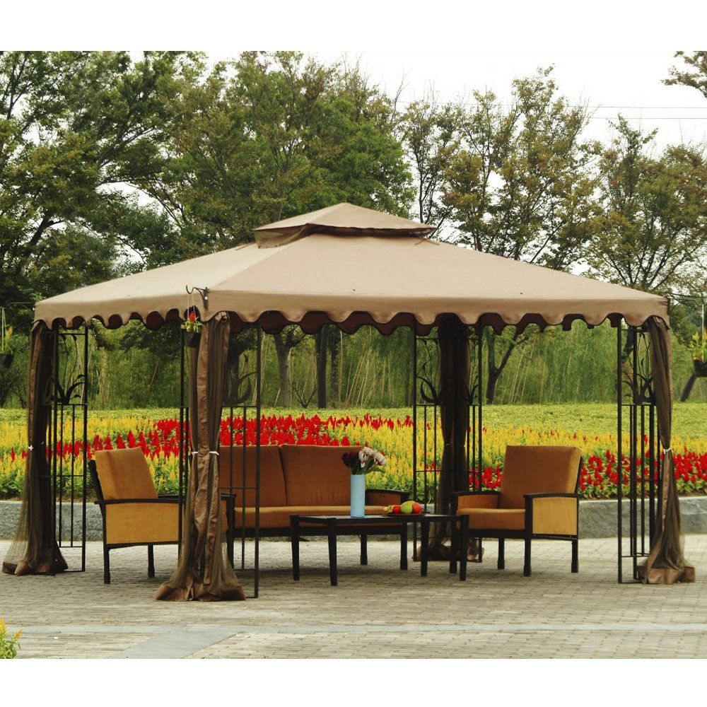 Amazon Com Sunjoy Replacement Canopy Set For 10x12ft L Gz043pst 3 Gazebo Garden Outdoor Gazebo Canopy Gazebo Replacement Canopy Gazebo