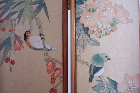 Wow Sale Silk Painted Small Version Divider Home Decor by cancan68, $85.00