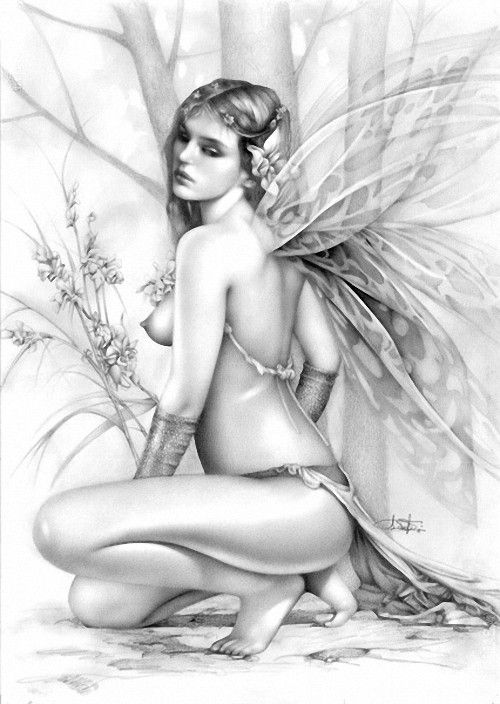 Nude fantasy coloring pages