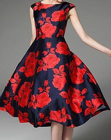 Un estampado rojo de lo más elegante y distinguido, ideal para una fiesta.