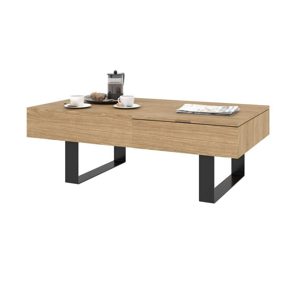 Lyra 44w Lift Top Coffee Table In Natural Oak Bestar 104160 000010 In 2021 Coffee Table Square Coffee Table Metal Coffee Table With Storage [ 1024 x 1024 Pixel ]