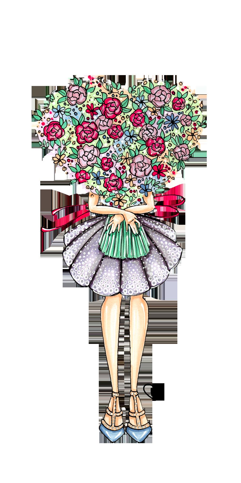 Flower Girl Casetify Iphone Art Design Illustration Cool Wallpaper Floral Live Wallpaper Iphone Cute Wallpapers Love Illustration