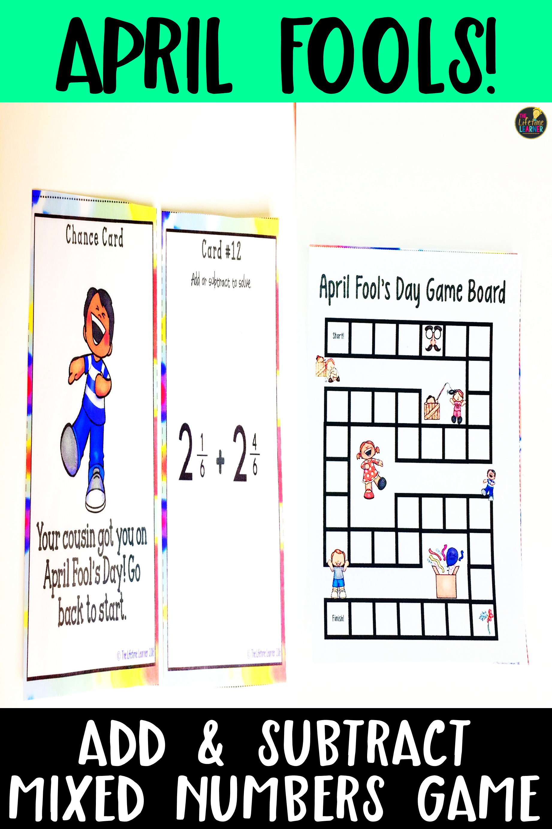 This 4th grade math center is perfect for the month of April! Fourth grade  students will enjoy this Apri…   Math activities [ 2763 x 1842 Pixel ]