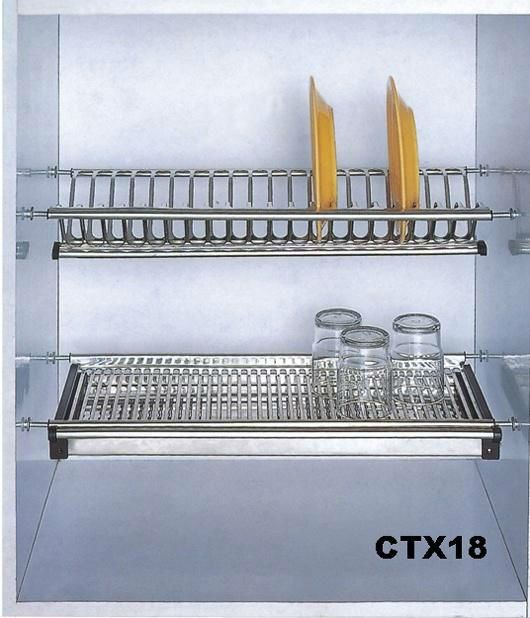 Kitchen Stainless Steel Wall Dish Rack Ctx18 Kitchen Sink Drying