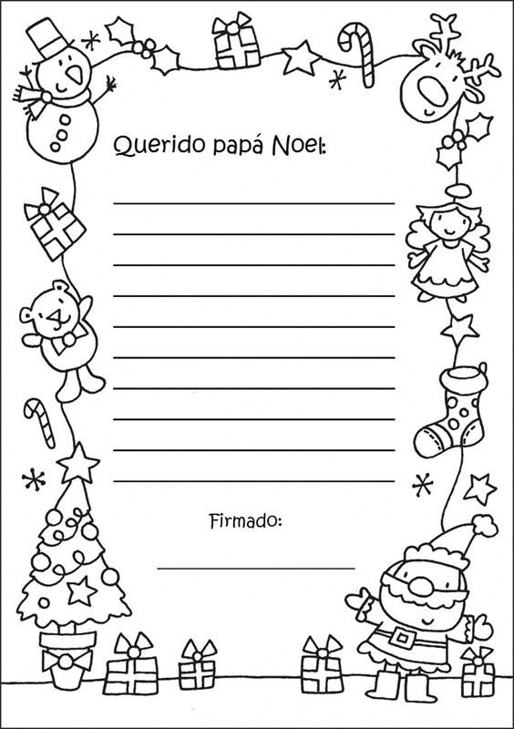 En Rhed Ando Carta A Papa Noel Cartas Para Santa Claus Y Papa