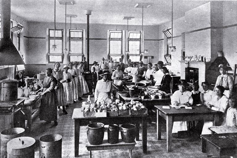 The soup kitchen at the Sydenham Manual Training Centre