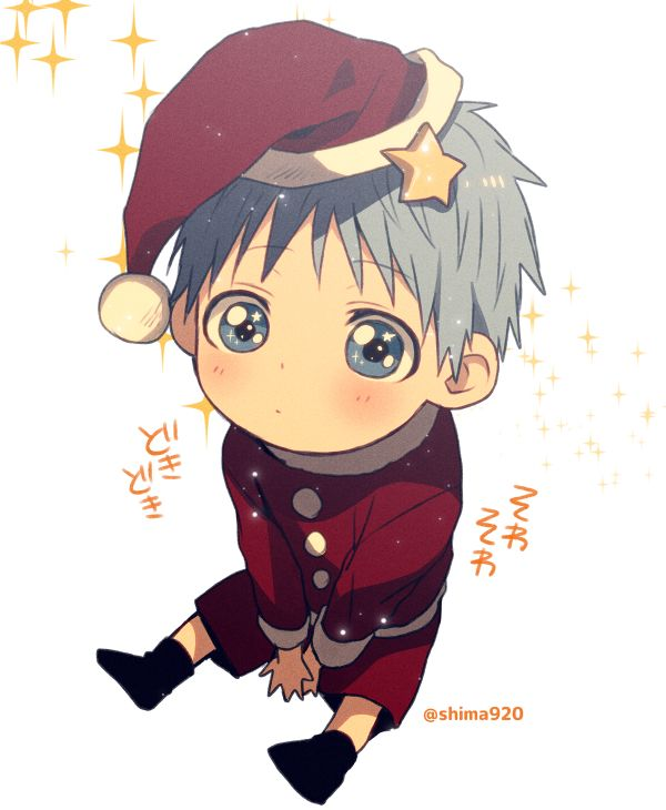 Anime Kuroko no Basuke Kuroko Tetsuya wear Christmas Hat | CUTE ...
