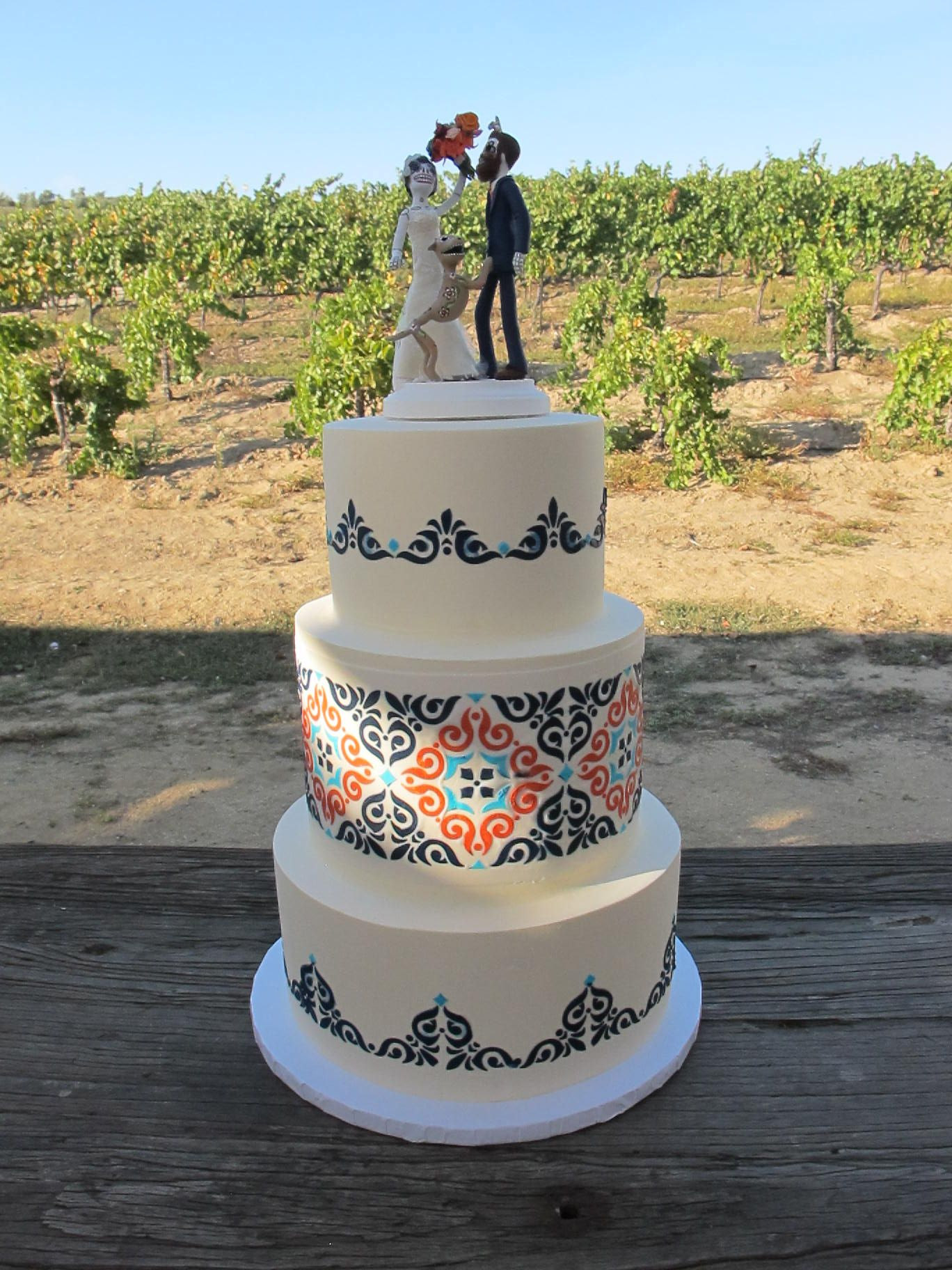 wedding cakes los angeles prices%0A main stacked wedding cake to be something like these three tile cakes  but  with the
