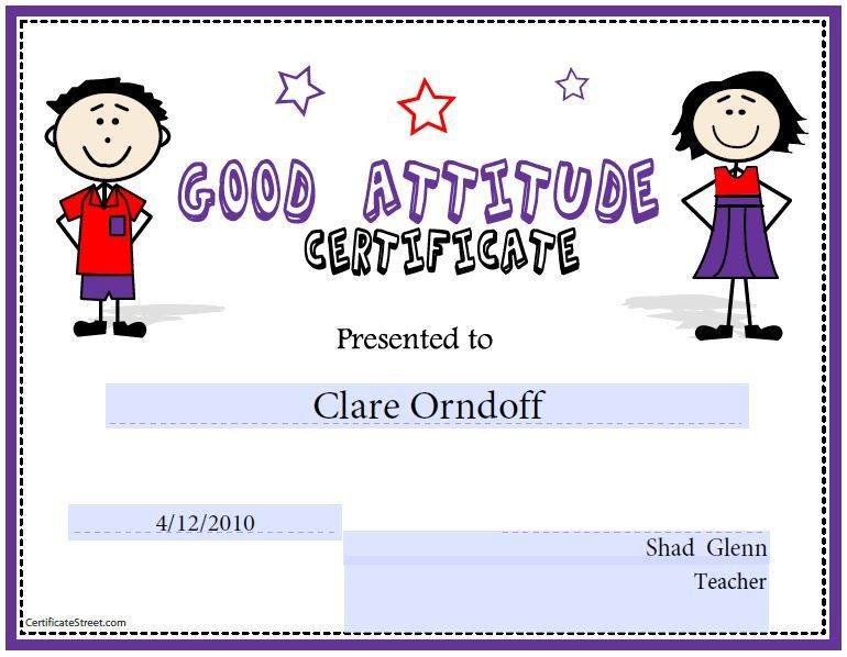 Kid Award Certificate Templates   Saferbrowser Yahoo Image Search   Free  Printable Perfect Attendance Certificate  Attendance Certificates Printable