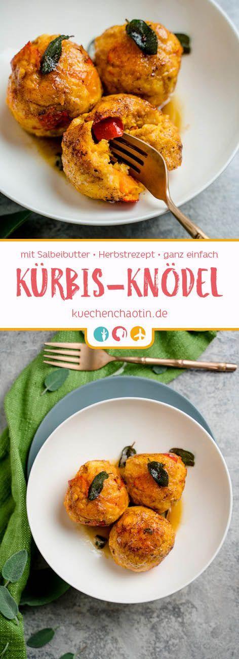 Kürbisknödel mit Salbeibutter - kuechenchaotin.de