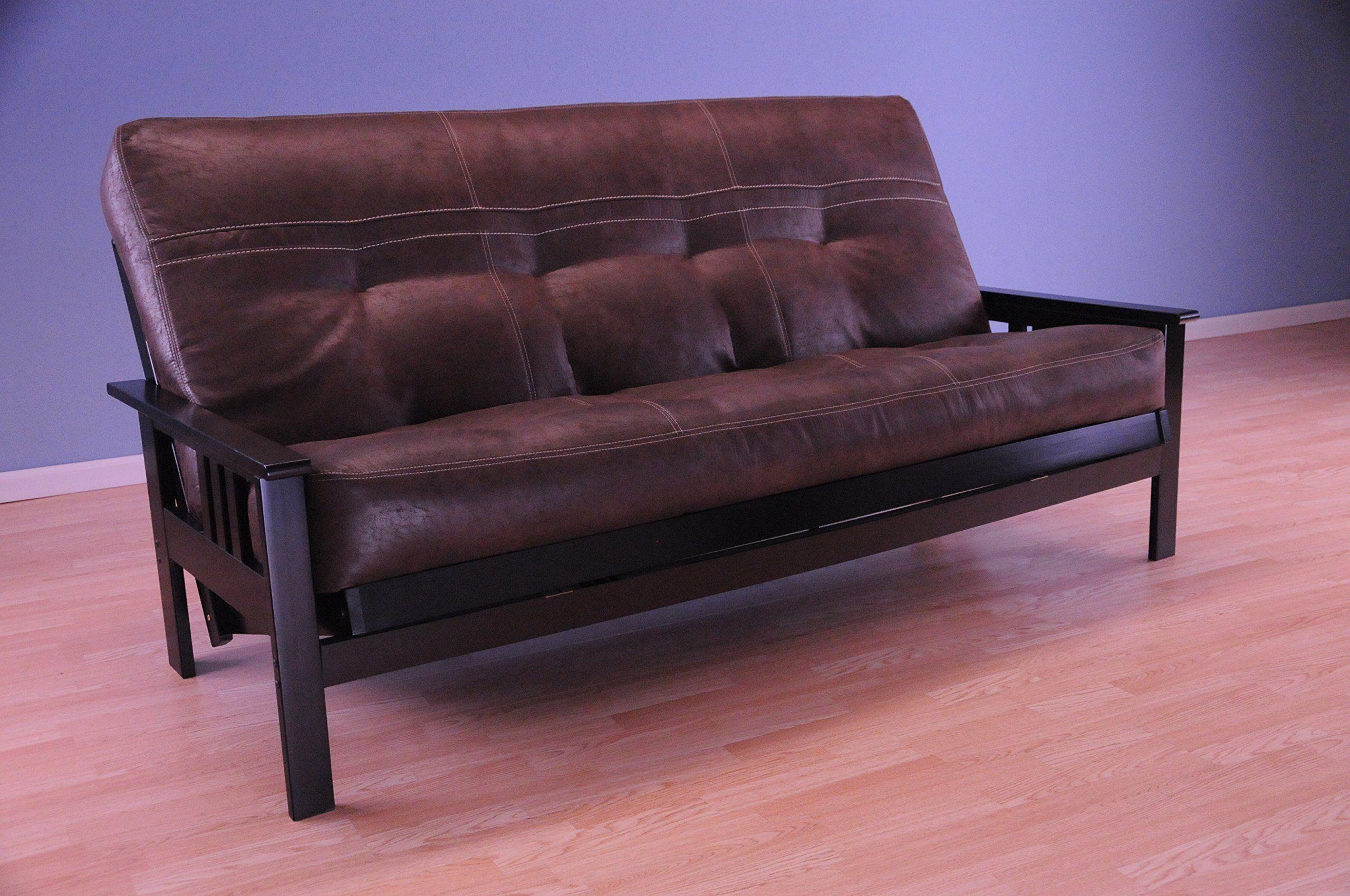 Kodiak Furniture Kfmobkpsbllf5md3 Monterey Futon Set With Black Finish Full Palance Sable Check Out