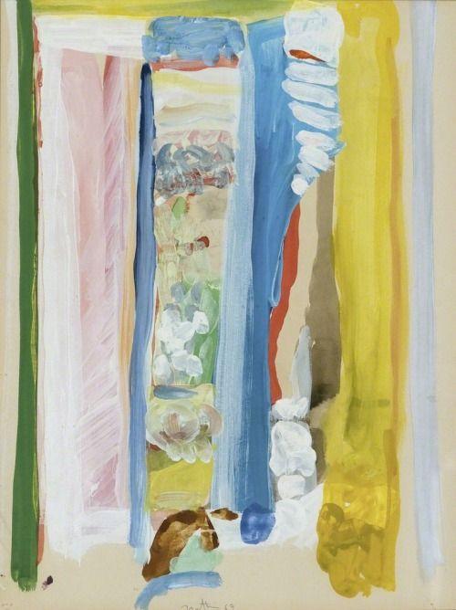 Robert Natkin (1930-2010), Untitled (Apollo) (1963), acrylic on paper