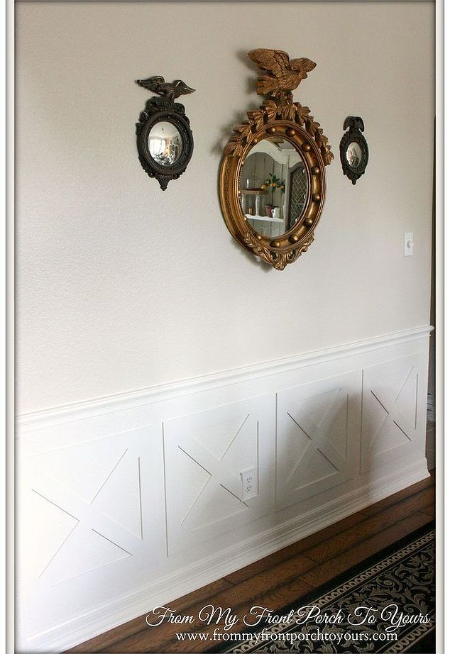 Crossbuck Barn Door Wainscoting Dining Room