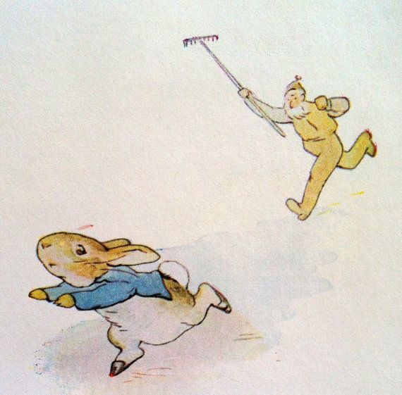 On The Banks Of Plum Creek PETER RABBIT runs from...