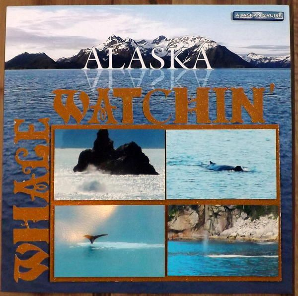 papercraft  scrapbook  layout  alaska whale watchin