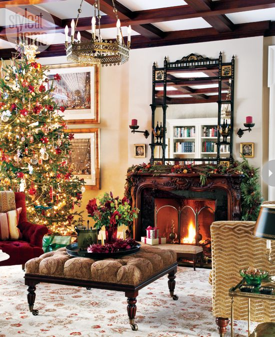 Interiors Regal English Christmas home Holiday Ideas