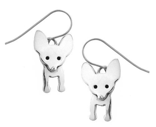 Chihuahua Dog Silver Dangle Earrings | Dog Jewelry ...