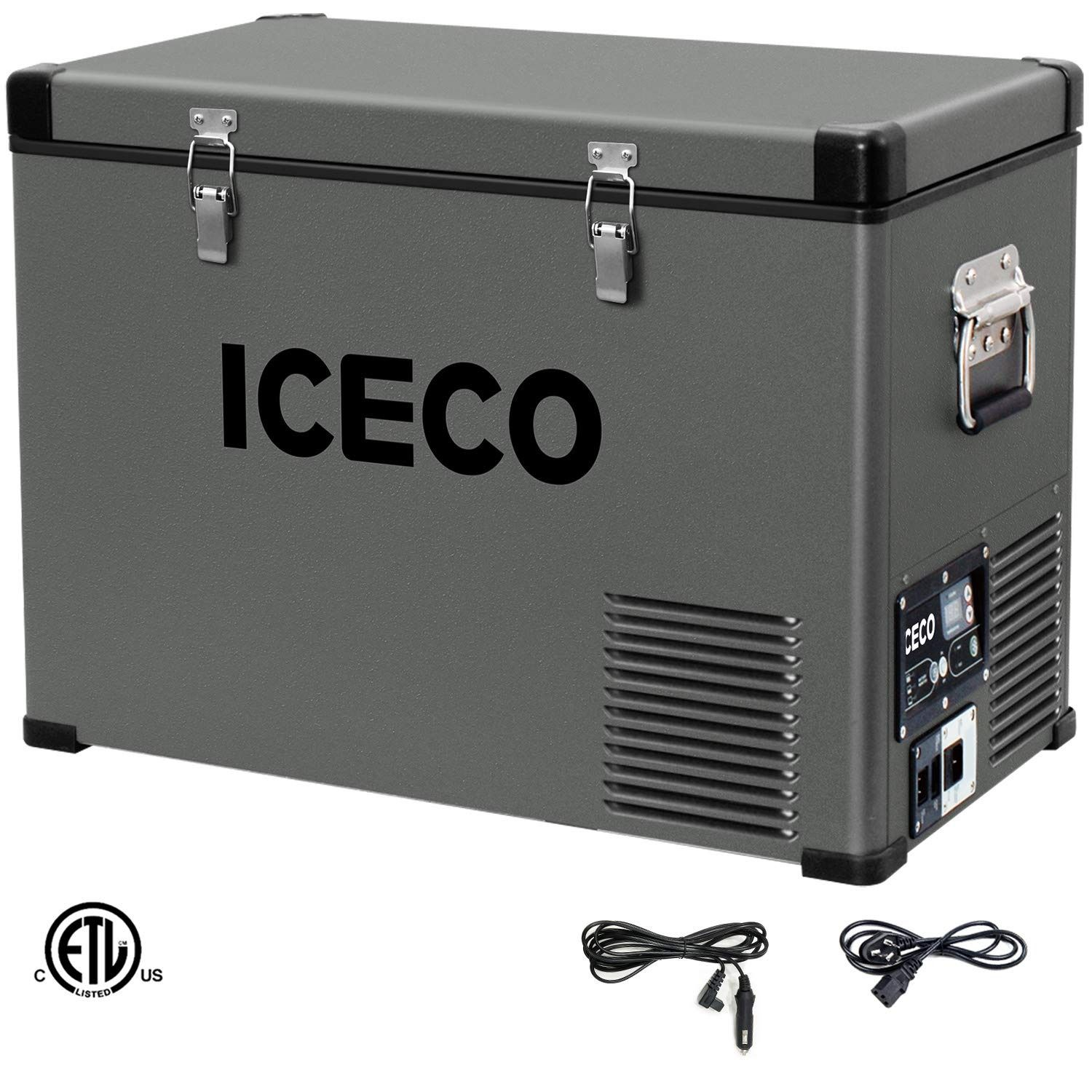Iceco Vl45 Portable Refrigerator 12v Fridge Freezer With Secop Compressor 48 Quarts 45liters