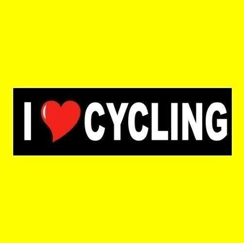 U0026quot I Love Cycling U0026quot  Window Decal Bumper Sticker Bicycling
