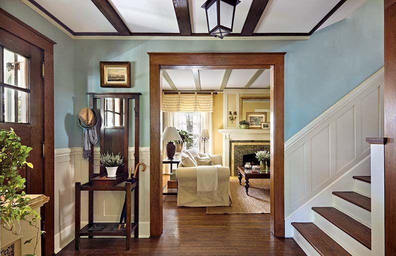 A cheerful foursquare restoration house design home