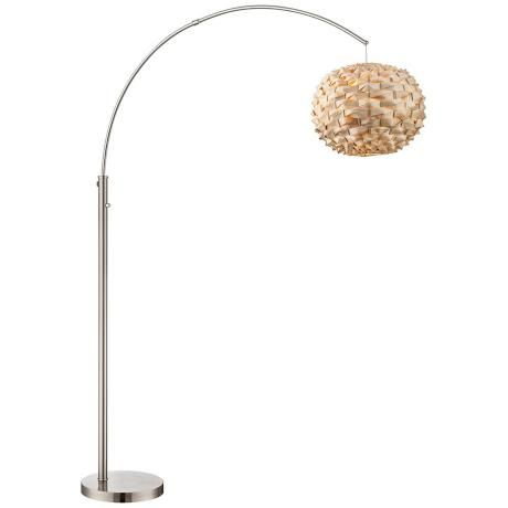 Lite source linterna arch floor lamp love the textured bamboo shade home lighting fixtures lamps more online arch floor mozeypictures Choice Image