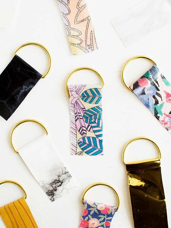 Creative Contact Paper Projects Diy Keyring Diy Keychain Diy Paper