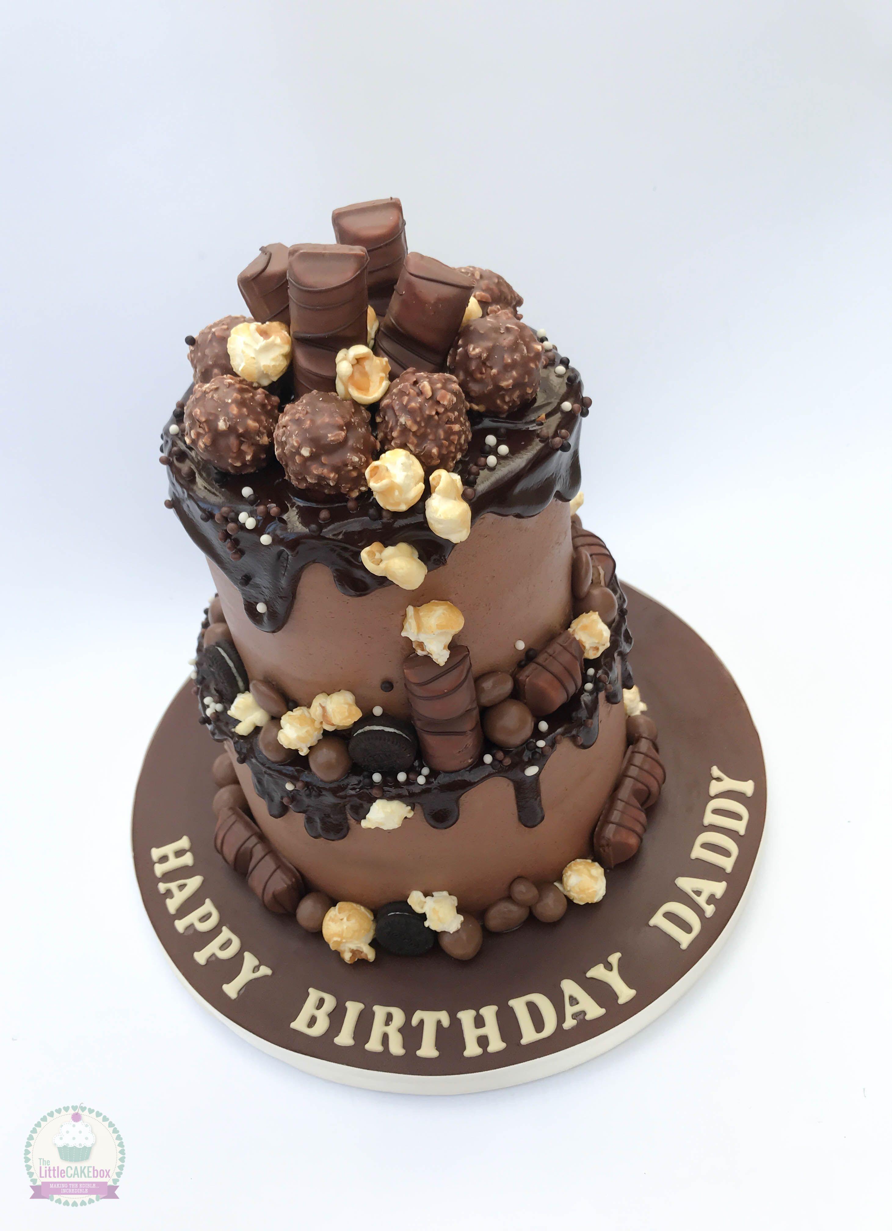 2 Tier Chocolate Drip Cake Chocolate Drip Cake Tiered Cakes