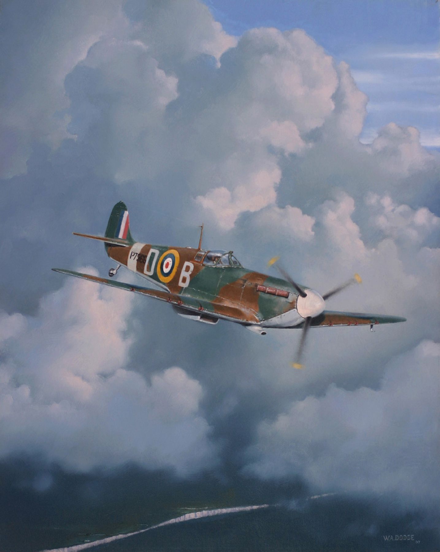 Spit Over The Channel Bill Dodge Aviation Art Aviation Fighter Jets